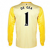 2013-14 Man United Yellow GK Shirt (De Gea 1) - Yellow