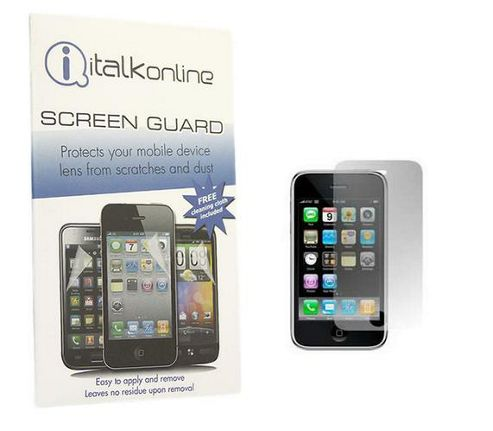 iTALKonline S-Protect Anti Glare LCD Screen Protector and Cleaning Cloth - For Apple iPhone 3GS