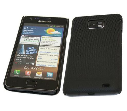 iTALKonline Mesh Hard Case Black - For Samsung i9100 Galaxy S II S2