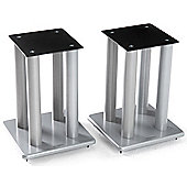 Atacama Speaker Stands in Silver - Height 500mm
