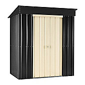 Store More LOTUS Pent 6 x 4 Slate Grey Metal Shed