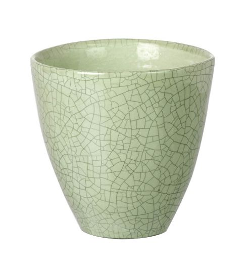 buy parlane ceramic crackle green flower plant pot 15. Black Bedroom Furniture Sets. Home Design Ideas