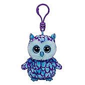 """Ty Beanie Boo Boos 3"""" Key Clip - Oscar the Owl"""
