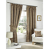 Dreams n Drapes Fairmont Coffee 66x72 Blackout Pencil Pleat Curtains