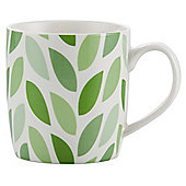 Tesco Single Porcelain Leaf Mug, Green