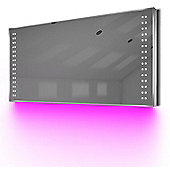 Ambient Ultra-Slim LED Bathroom Mirror With Demister Pad & Sensor K62P