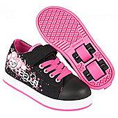 Heelys Spiffy Black/Pink/Monster Kids Heely X2 Shoe - Black