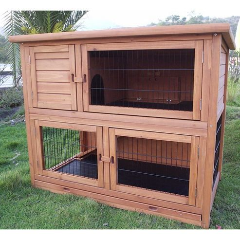 Buy summer meadows double storey extra large rabbit hutch for Extra large rabbit cage