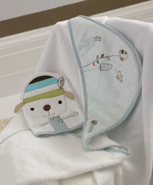 Mamas & Papas - Scrapbook Boy - Hooded Towel and Mitt