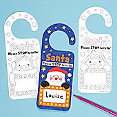 Christmas Personalised Door Hangers for Children to Decorate and Embellish (Pack of 8)