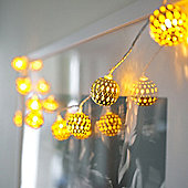 Gold Tangier Indoor LED Fairy Lights