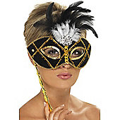 Black and Gold Eyemask on Stick