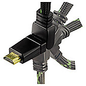 Hama High Speed HDMI cable HQ for Xbox 360 180? rotation 2M for Games