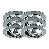 Paulmann Premium Line Six Swiveling Downlight Set in Chrome Matt