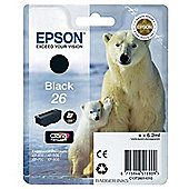 Epson Polar Bear 26 Ink Cartridge C13T26014010 T2601 - Black