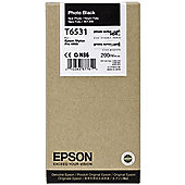 Epson T6531 UltraChrome K3 Ink Cartridge - 200ml (Photo Black) for Epson Stylus Pro 4900