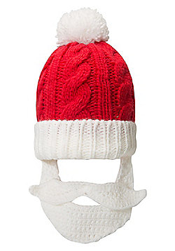 Mountain Warehouse Xmas Santa Beard Beanie - Red