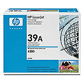 HP 39A Black Smart Print Cartridge (Yield 18,000 Pages) for HP LaserJet 4300 Printers