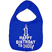 Dirty Fingers Happy 1st Birthday to me! Baby Bib Royal Blue