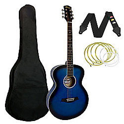 Tiger Blue Acoustic Guitar Package