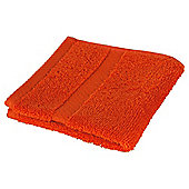 Tesco 100% Combed Cotton Face Cloth Orange