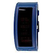 Black Dice Guru Mens Blue Rubber LED Light Watch BD04413