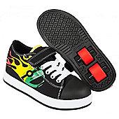 Heelys Spiffy Black/Rasta Kids Heely X2 Shoe - Black
