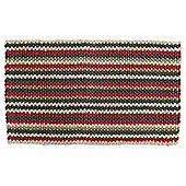 Red & Grey Stripe Boucle Door Mat