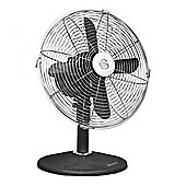 "Swan 12"" Retro Desk Fan, 3 Speed - Black"