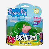 Peppa Pig Weebles Wobbily Figure and Base - George Pig