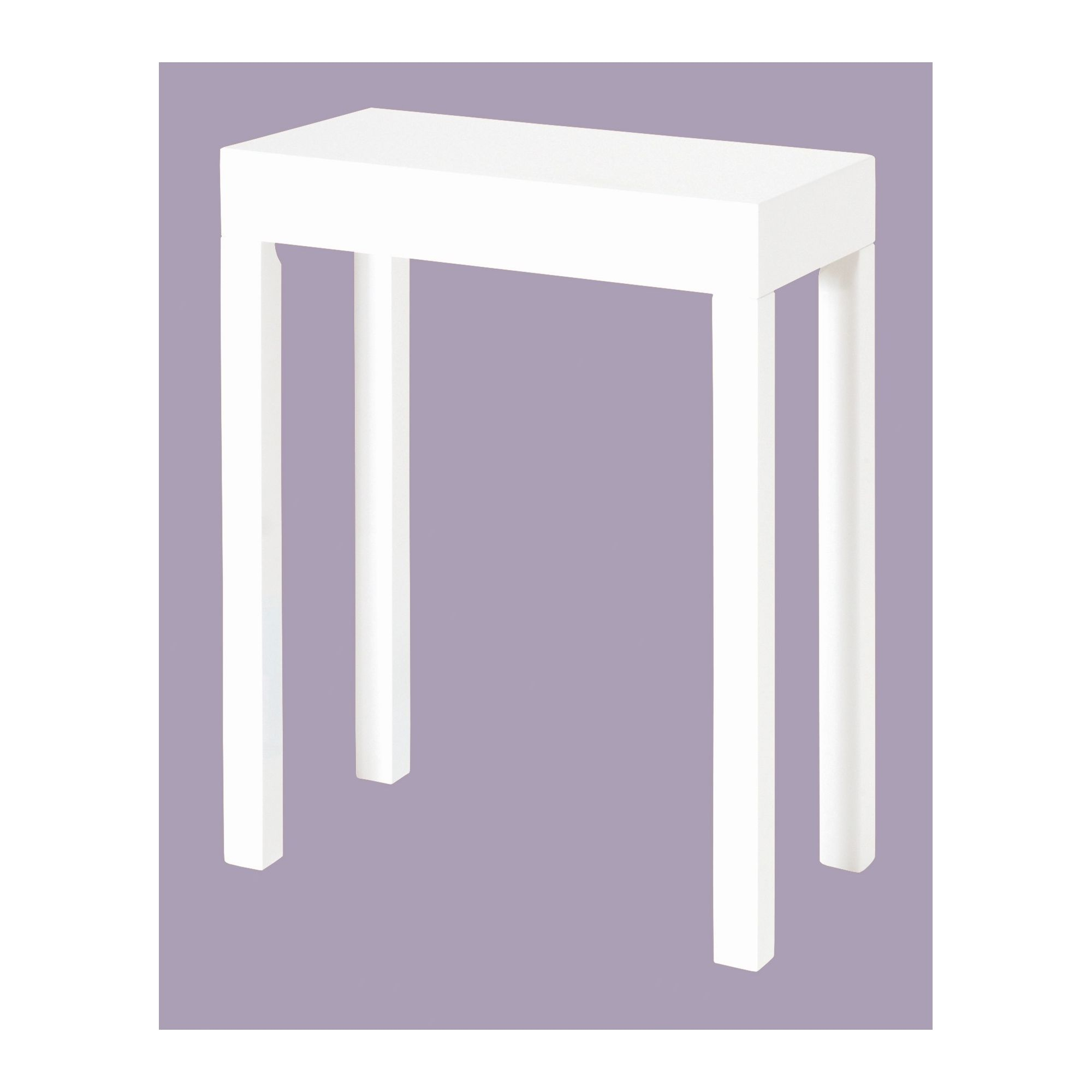 Urbane Designs Linea 68cm Side Table / Lamp Table in White