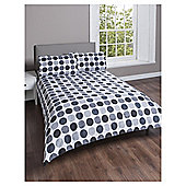 Black Grey Tonal Spot Single Duvet Set