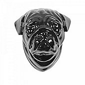 Black Ceramic Dog Head Wall Art