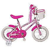 """Sparkle & Glitz 14"""" Kids' Bike with Stabilisers"""