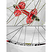 Momentum Solo 700c Wheel: Red Front.