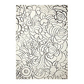 Esprit Madison White Woven Rug - 133 cm x 200 cm (4 ft 4 in x 6 ft 7 in)
