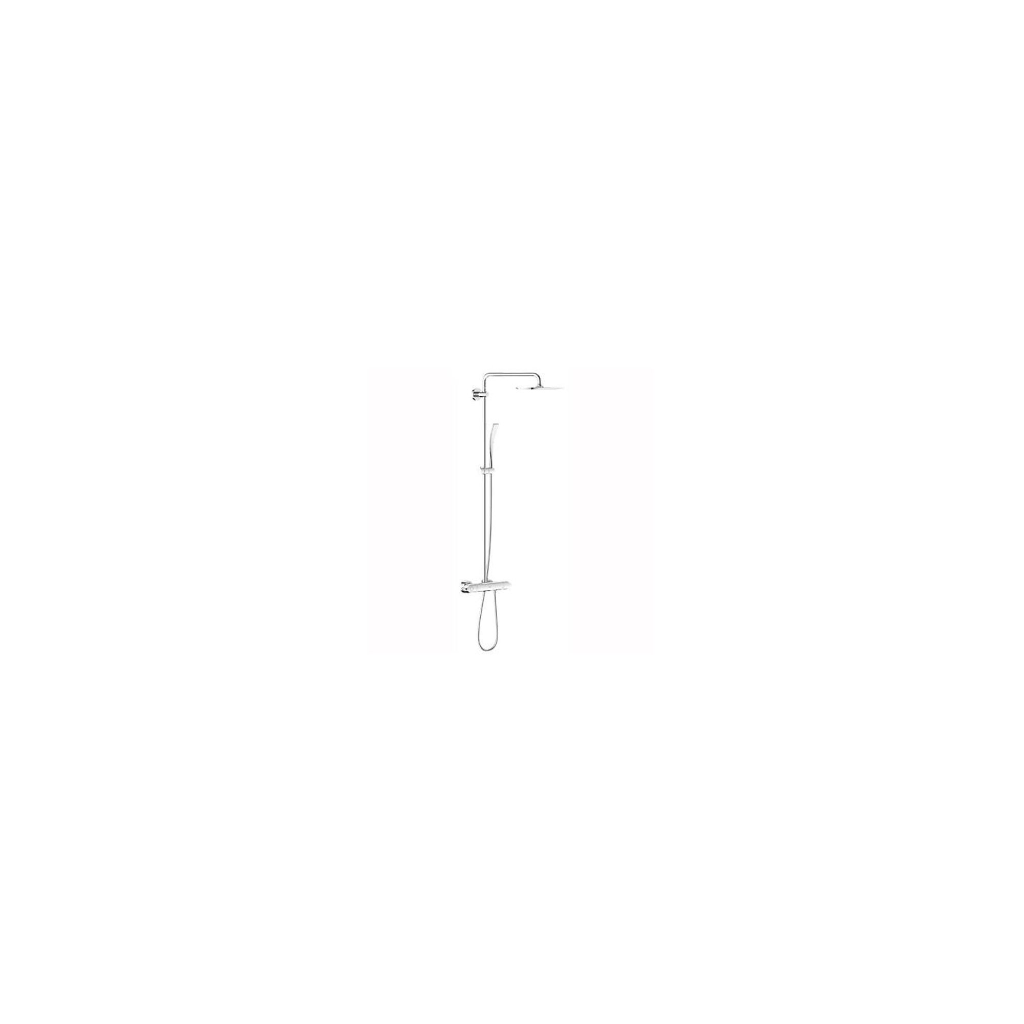 Grohe Rainshower 27472000 Bar Shower, Fixed Head, Curved Handset, Chrome at Tesco Direct
