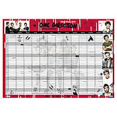 One Direction 2015 Wall Planner, A2 Size