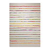Esprit Joyful Stripes Red Woven Rug - 133 cm x 200 cm (4 ft 4 in x 6 ft 7 in)