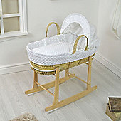 PreciousLittleOne Moses Basket Bedding Set (Dimple White)