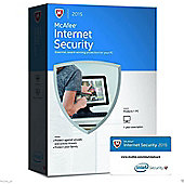 Intel McAfee Internet Security 2015 1 User 1 Year Activation Licence Key Card