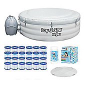 Bestway Lay-Z-Spa Vegas & Platinum Starter Kit - Protector, Filters, Chemicals