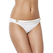 F&F Luxury Gold Trim Bikini Briefs - White