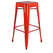 Xavier Pauchard High Orange Tolix Style Stool