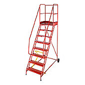 Heavy Duty 6 Tread Steel Warehouse Mobile Step (Anti-Slip Tread)