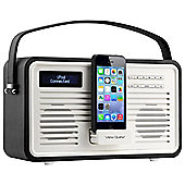View Quest Retro ColourGen DAB+/FM Radio with iPod Dock (Black, 8 Pin)