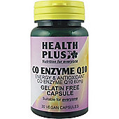 Health Plus Co Enzyme Q10 60mg 30 Veg Capsules