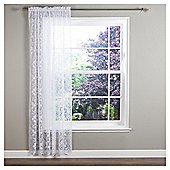 "Regency Voile Slot Top Curtains W137xL122cm (54x48""), White"