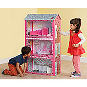 Plum® Plaza Childrens ™ Wooden Dolls House with Accessories