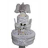 Baby Gift Unisex Dumbo Elephant Nappy Cake (Three tier)